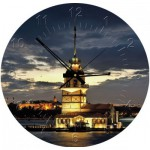 Art-Puzzle-4137 Puzzle Horloge - The Maiden's Tower, Tour de Léandre, Turquie (Pile non fournie)