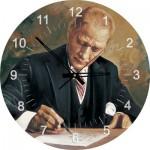 Art-Puzzle-4298 Puzzle Horloge - Ghazi Mustafa Kemal Atatürk travaillant (Pile non fournie)