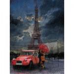 Puzzle  Art-Puzzle-4407 Pluie et Amour à la Tour Eiffel