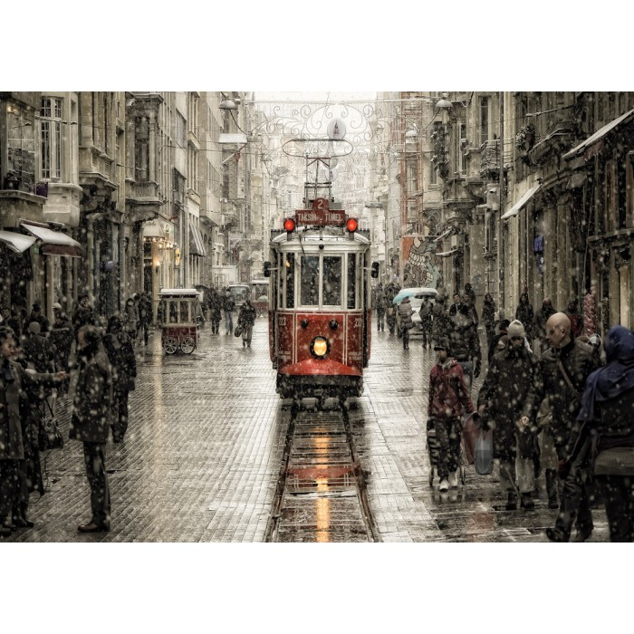 Murat Akan : Beyoglu in Sleet