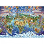 Puzzle  Art-Puzzle-4717 World Wonders Illustrated Map