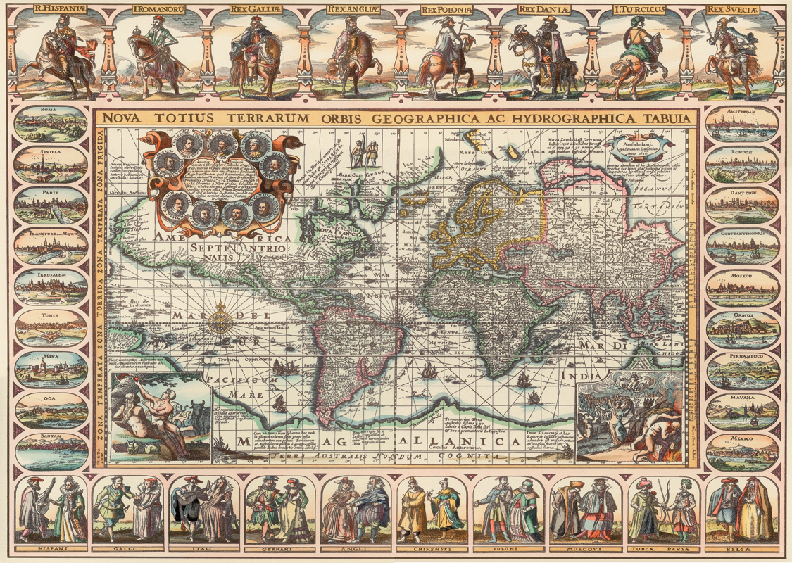 puzzle vieille carte du monde art puzzle 4711 2000 pi ces. Black Bedroom Furniture Sets. Home Design Ideas
