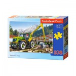 Puzzle  Castorland-010059 Tracteur Timber Crane