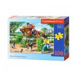 Puzzle  Castorland-010165 Equitation en Vacances