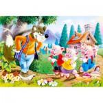 Puzzle  Castorland-06519 Les 3 petits cochons