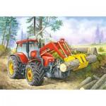 Puzzle  Castorland-06601 Tracteur du Forestier