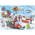 Puzzle  Castorland-06694 Sauvetages en montagne