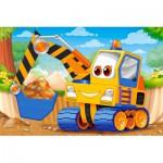 Castorland-08521-BP2 Mini Puzzle - Véhicule de Chantier