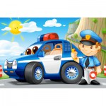 Castorland-08521-BP3 Mini Puzzle - Police