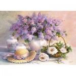 Puzzle  Castorland-102006 Trisha Hardwick : Jour de lilas