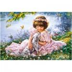 Puzzle  Castorland-103249 Puppy Love