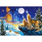 Puzzle  Castorland-103317 Howling Wolves