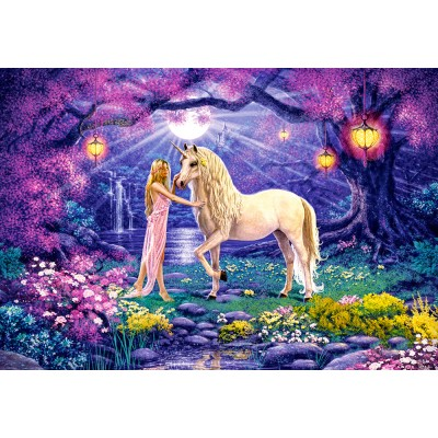 Puzzle Castorland-103614 Le Jardin de la Licorne