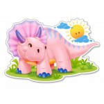 Puzzle  Castorland-120048 Pink Baby Triceratop