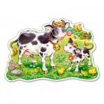 Puzzle  Castorland-120062 Vaches dans le Champ