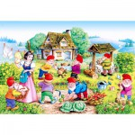 Puzzle  Castorland-12749 Blanche Neige et les 7 Nains