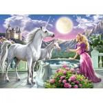 Puzzle  Castorland-13098 La Princesse et ses Licornes