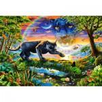 Puzzle  Castorland-151356 Panthère au Crépuscule