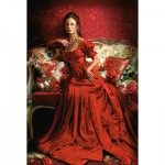Puzzle  Castorland-151370 Beauty in Red
