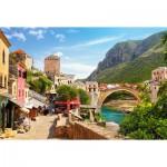 Puzzle  Castorland-151387 Vieille Ville de Mostar, Bosnie-Herzégovine