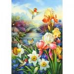 Puzzle  Castorland-151509 Golden Irises