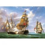 Puzzle  Castorland-300037 Vessels : La bataille de Trafalgar