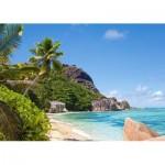 Puzzle  Castorland-300228 Plage Tropicale, Seychelles