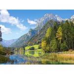 Puzzle  Castorland-300273 Refuge au pied des Alpes