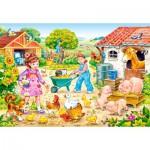 Puzzle  Castorland-40087 Pièces XXL - La Ferme