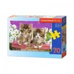 Puzzle  Castorland-B-007158 Petits Chatons dans un Panier