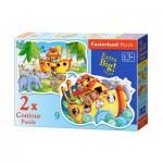 Castorland-B-020089 2 Puzzles - Noah's Ark