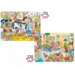 Puzzle  Castorland-B-021154 Vétérinaires