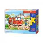 Puzzle  Castorland-B-035106 L'équipe des Pompiers