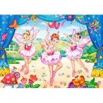 Puzzle  Castorland-B-035182 Pièces Mini - Petites Ballerines