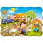 Puzzle  Castorland-B-03563 Un Jour à la Ferme
