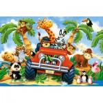 Puzzle  Castorland-B-040131 Pièces XXL - Peluches en Safari