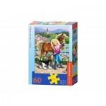 Puzzle  Castorland-B-06755 Promenade avec le Poney et le Chien