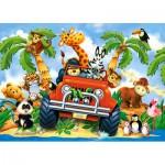 Puzzle  Castorland-B-06793 Peluches en Safari