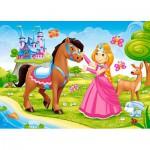 Puzzle  Castorland-B-06816 La Princesse et son Cheval
