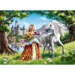 Puzzle  Castorland-B-06830 La Princesse et son Cheval