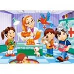 Puzzle  Castorland-B-06847 Chez le Vétérinaire