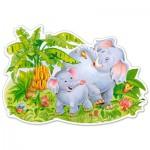 Castorland-B-120116 Puzzle Forme - Jeux d'Eléphants