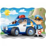 Puzzle  Castorland-C-02252 Patrouille de Police