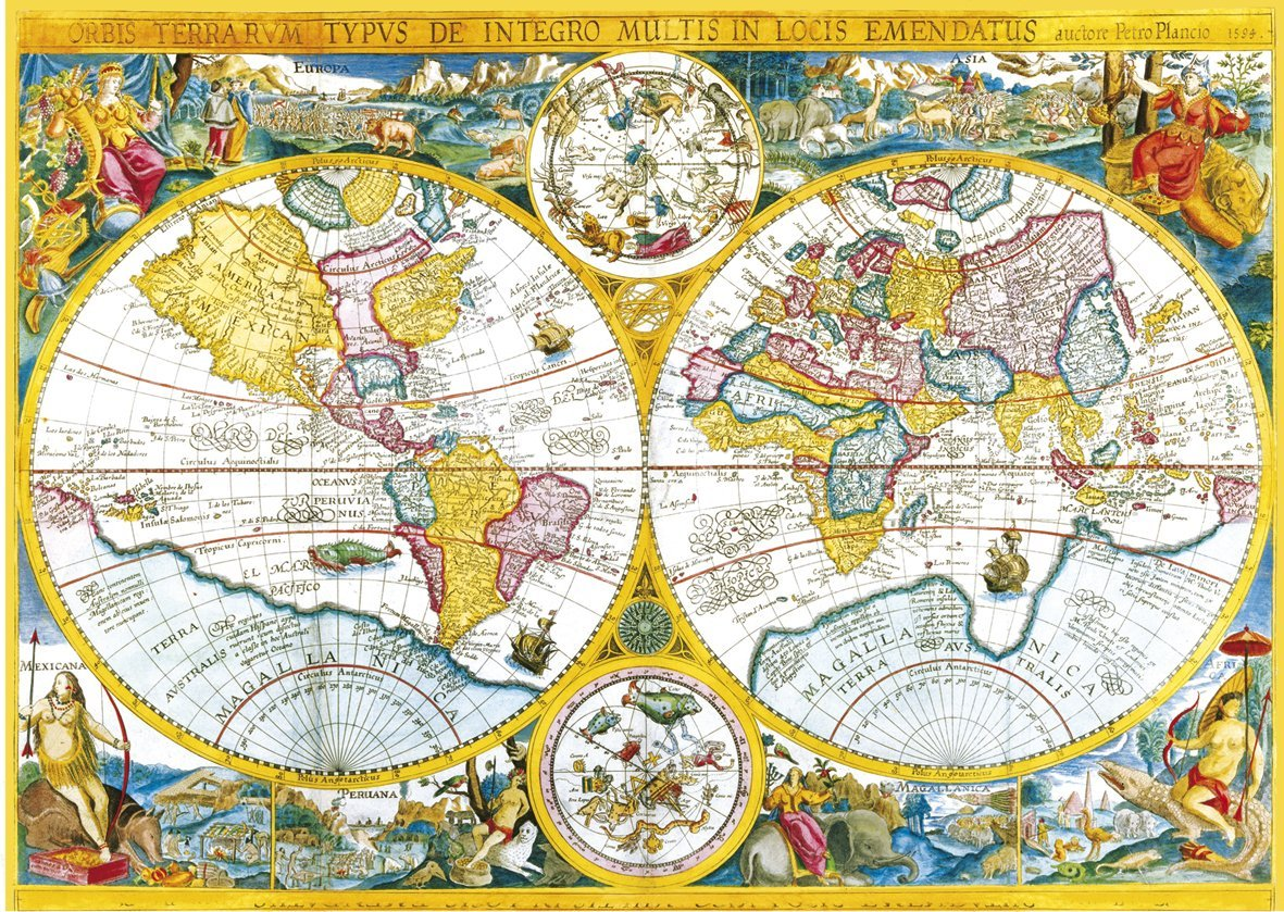 puzzle carte ancienne du monde clementoni 34516 4000 pi ces puzzles cartes du monde et. Black Bedroom Furniture Sets. Home Design Ideas