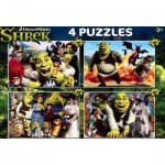 Clementoni-07609 4 Puzzles - Shrek