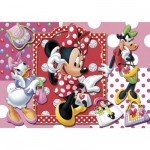Clementoni-20402 Puzzle 104 pièces : Minnie fait du shopping