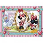 Clementoni-20403 Puzzle 104 pièces : Minnie se fait une beauté