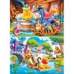 Clementoni-24742 2 Puzzles - Winnie l'Ourson