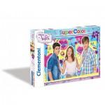 Puzzle  Clementoni-27891 Violetta : Tomas et Leon