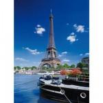 Puzzle  Clementoni-30302 Paris : La Tour Eiffel vue depuis la Seine
